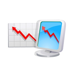 stock graph vector image