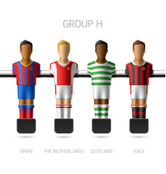Table football foosball players Group H vector image