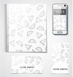 Template branded products with monochrome vector