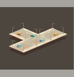 three-way intersection vector image