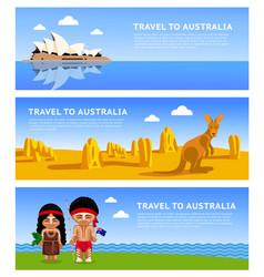 travel to australia vector image