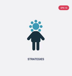 Two color strategies icon from people concept vector