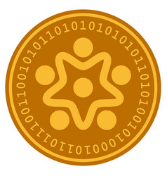 User organization digital coin vector