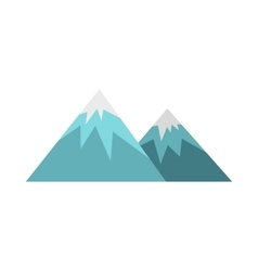 Winter mountains icon flat style vector