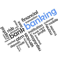 Word cloud banking vector