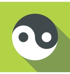 Ying yang icon flat style vector
