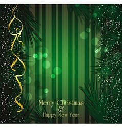 christmas festive vector image vector image