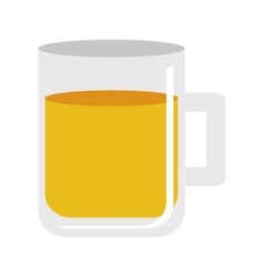 glass and beverage icon image vector image
