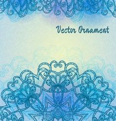 Vintage light blue pattern vector image vector image