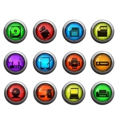 Computer equipment icons set vector image