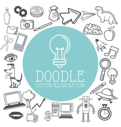 Doodle icon design cartoon icon draw concept vector image