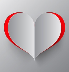 Heart Paper Cut vector image vector image