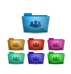 member folder icon vector image