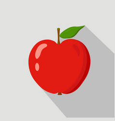 red apple flat icon vector image vector image