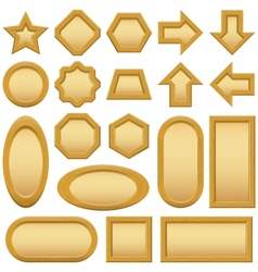 Wood frames buttons set vector image vector image