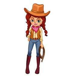 A cowgirl vector image