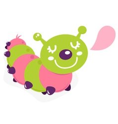 cartoon caterpillar vector image vector image