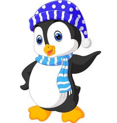 cute penguin cartoon vector image vector image