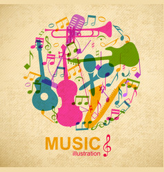 musical round composition vector image vector image