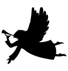 Angel xmas silhouette vector