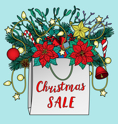 christmas sale composition vector image