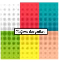 Colour set of halftone retro background vector image vector image