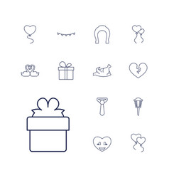 13 decoration icons vector image