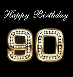 90th happy birthday vector