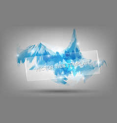 abstract background bluish icy feel background vector image