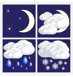 abstract night weather image set vector image