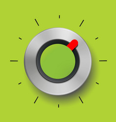 abstract round metal texture green tuner red arrow vector image