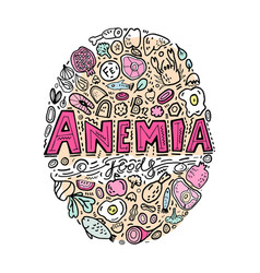 anemia doodles background vector image
