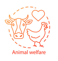 Animal welfare shelter concept icon voluntary vector