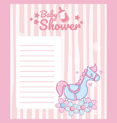 Baby shower blank note card vector