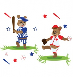 baseball teddy vector image