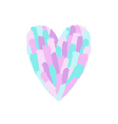 Beautiful pastel paint heart shape vector