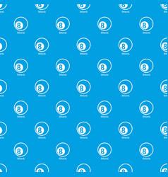 billiards pattern seamless blue vector image