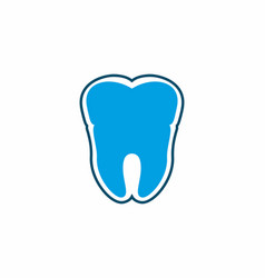 blue tooth with outline vector image