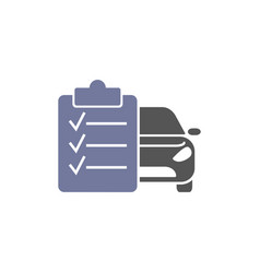 car maintenance list icon automotive and vector image