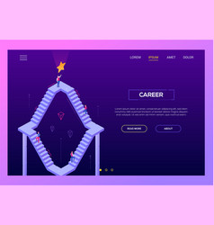 career - modern isometric landing page vector image