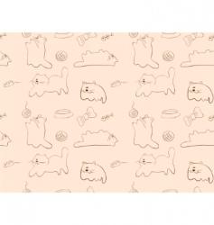 cats wallpaper vector image