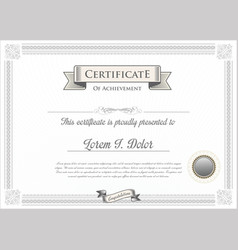 certificate or diploma template 2 vector image