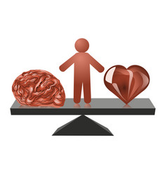 choice between heart and mind vector image