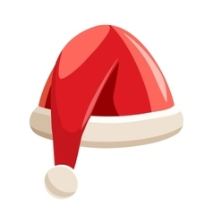 Christmas Santa Claus hat icon cartoon style vector image