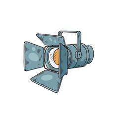 Cinema or photography spotlight icon sketch vector