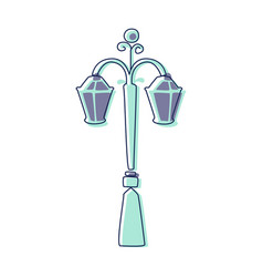 Classy outdoor lighting lantern lamp cute fairy vector