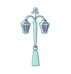 classy outdoor lighting lantern lamp cute fairy vector image vector image