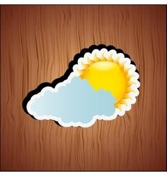 Cloudy day design vector