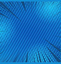 Comic blue dynamic background vector