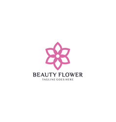 Creative and simple flower for logo design vector